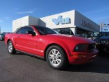 2007 Torch Red Ford Mustang V6 Deluxe Convertible #59639789