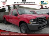 2002 Red Clearcoat Ford F250 Super Duty XL SuperCab 4x4 #59669354