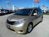 2012 Sandy Beach Metallic Toyota Sienna LE #59669249