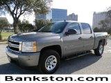 2008 Graystone Metallic Chevrolet Silverado 1500 LS Crew Cab #59669061