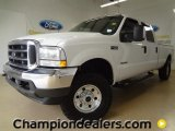 2004 Oxford White Ford F250 Super Duty XLT Crew Cab 4x4 #59669205