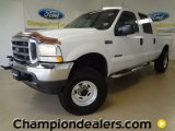 2002 Oxford White Ford F250 Super Duty XLT SuperCab 4x4 #59669202