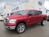 2008 Inferno Red Crystal Pearl Dodge Ram 1500 Big Horn Edition Quad Cab 4x4 #59669288