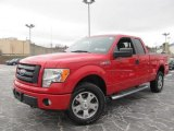 2010 Vermillion Red Ford F150 STX SuperCab 4x4 #59689097