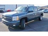 2009 Blue Granite Metallic Chevrolet Silverado 1500 LT Crew Cab 4x4 #59689086