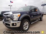 2012 Dark Blue Pearl Metallic Ford F250 Super Duty Lariat Crew Cab 4x4 #59689038