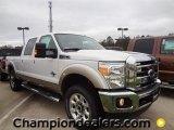 2012 White Platinum Metallic Tri-Coat Ford F250 Super Duty Lariat Crew Cab 4x4 #59689034