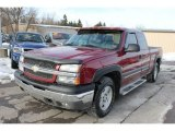 2005 Sport Red Metallic Chevrolet Silverado 1500 LS Extended Cab 4x4 #59689518