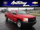 2009 Victory Red Chevrolet Silverado 1500 Extended Cab 4x4 #59739642