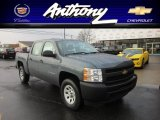 2012 Blue Granite Metallic Chevrolet Silverado 1500 Work Truck Crew Cab 4x4 #59739640