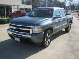 2010 Blue Granite Metallic Chevrolet Silverado 1500 LT Crew Cab #59739315