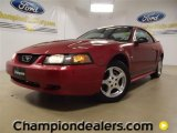 2002 Laser Red Metallic Ford Mustang V6 Coupe #59738977