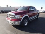 2012 Deep Cherry Red Crystal Pearl Dodge Ram 1500 Laramie Crew Cab 4x4 #59739290