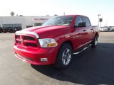 2012 Flame Red Dodge Ram 1500 Express Crew Cab 4x4 #59739288