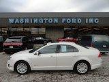 2010 White Platinum Tri-coat Metallic Ford Fusion Hybrid #59739273