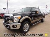 2012 Tuxedo Black Metallic Ford F250 Super Duty Lariat Crew Cab 4x4 #59738950