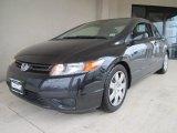 2007 Nighthawk Black Pearl Honda Civic LX Coupe #59739252