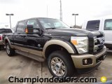 2012 Tuxedo Black Metallic Ford F250 Super Duty King Ranch Crew Cab 4x4 #59738948