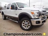 2012 Oxford White Ford F250 Super Duty Lariat Crew Cab 4x4 #59738947
