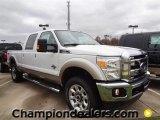 2012 Oxford White Ford F250 Super Duty Lariat Crew Cab 4x4 #59738945
