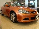 2006 Blaze Orange Metallic Acura RSX Type S Sports Coupe #5964457