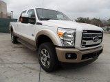 2012 White Platinum Metallic Tri-Coat Ford F250 Super Duty King Ranch Crew Cab 4x4 #59739197