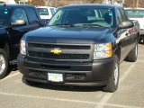 2012 Black Granite Metallic Chevrolet Silverado 1500 Work Truck Extended Cab 4x4 #59797303