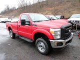 2012 Vermillion Red Ford F250 Super Duty XL Regular Cab 4x4 #59797274