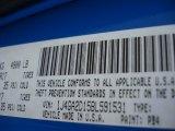 2011 Wrangler Color Code for Cosmos Blue - Color Code: PB4