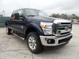 2012 Dark Blue Pearl Metallic Ford F250 Super Duty Lariat Crew Cab 4x4 #59797390