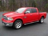 2012 Flame Red Dodge Ram 1500 Laramie Longhorn Crew Cab 4x4 #59797705
