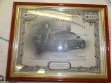 2004 Chevrolet Monte Carlo Dale Earnhardt Jr. Signature Series Info Tag
