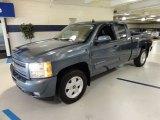 2010 Blue Granite Metallic Chevrolet Silverado 1500 LT Extended Cab 4x4 #59797382