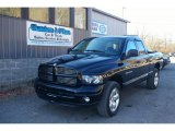 2004 Black Dodge Ram 1500 SLT Quad Cab 4x4 #59797381