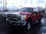 2012 Vermillion Red Ford F250 Super Duty XLT Crew Cab 4x4 #59797669