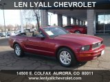 2007 Redfire Metallic Ford Mustang V6 Deluxe Convertible #59859786