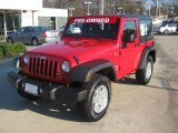 2011 Flame Red Jeep Wrangler Sport 4x4 #59860290