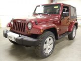 2012 Deep Cherry Red Crystal Pearl Jeep Wrangler Sahara 4x4 #59860805