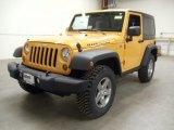 2012 Dozer Yellow Jeep Wrangler Rubicon 4X4 #59860802