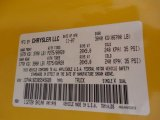 2008 Ram 1500 Color Code for Detonator Yellow - Color Code: PYB