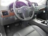 2012 Nissan Armada SL Charcoal Interior