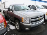 2007 Graystone Metallic Chevrolet Silverado 1500 LT Regular Cab 4x4 #59859255