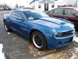 2010 Aqua Blue Metallic Chevrolet Camaro LS Coupe #59859254