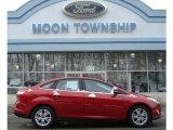 2012 Red Candy Metallic Ford Focus SEL Sedan #59859935