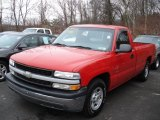 2002 Victory Red Chevrolet Silverado 1500 LS Regular Cab #59859888