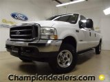 2004 Oxford White Ford F250 Super Duty Lariat Crew Cab 4x4 #59981012