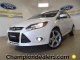 2012 White Platinum Tricoat Metallic Ford Focus Titanium 5-Door #59981001