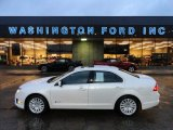2010 White Platinum Tri-coat Metallic Ford Fusion Hybrid #60009523