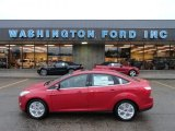 2012 Red Candy Metallic Ford Focus SEL Sedan #60009516