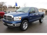2008 Electric Blue Pearl Dodge Ram 1500 Big Horn Edition Quad Cab 4x4 #60009659